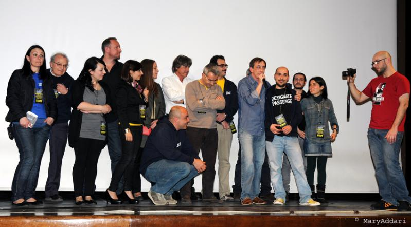 Skepto International Film Festival 2012 - lo staff sul palco